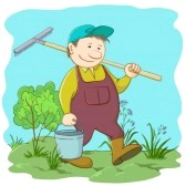 9594405-man-gardener-with-a-bucket-and-a-rake-work-in-a-garden[1] By 123rf.com
